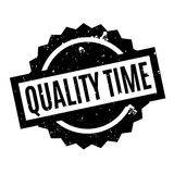 Quality Time rubber stamp Stock Images