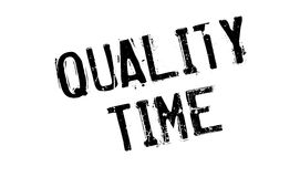 Quality Time rubber stamp Stock Photo