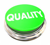 Quality Top Better Best Product Service Green Button Stock Image