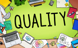 Quality Value Worth Capability Guarantee Concept Royalty Free Stock Photos