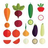 Quality vegetables icons Stock Images