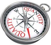 Quality versus quantity Royalty Free Stock Image
