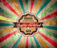 Quality vintage label for premium product Royalty Free Stock Photography