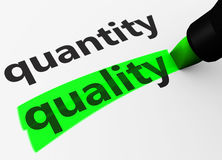 Free Quality Vs Quantity Concept Royalty Free Stock Image - 78081656