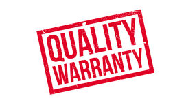 Quality Warranty rubber stamp. Grunge design with dust scratches. Effects can be easily removed for a clean, crisp look. Color is easily changed Royalty Free Stock Images