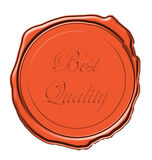 Quality wax seal Stock Images