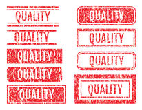 Quality Word Rubber Stamps Grunge Style Set Royalty Free Stock Image