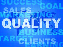 Quality Words Shows Guarantee Check And Approve Royalty Free Stock Photo