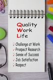 Quality of Work Life Concept royalty free stock images