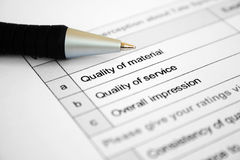 Qualitysurvey Stock Photos