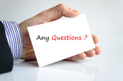 Qualsiasi domande Immagine Stock