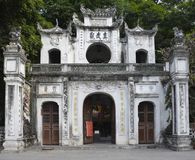 Quan Thanh Temple. Hanoi, Vietnam - 16th December 2017. The gateway outside the historic Quan Thanh Temple in the Ba Dinh district of Hanoi, Vietnam. The temple Stock Photo