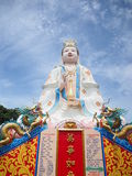 Quan Yin / Guan Yin / Guan Yim. Statue of The big Goddess of Mercy, known as Quan Yin or Guan Yin or Guan Yim, depending on the chinese dialect in Thailand Royalty Free Stock Photos