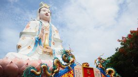 Quan Yin / Guan Yin / Guan Yim. Statue of The big Goddess of Mercy, known as Quan Yin or Guan Yin or Guan Yim, depending on the chinese dialect in Thailand Stock Images