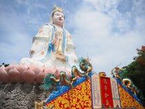 Quan Yin / Guan Yin / Guan Yim. Statue of The big Goddess of Mercy, known as Quan Yin or Guan Yin or Guan Yim, depending on the chinese dialect in Thailand Royalty Free Stock Photo