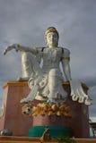 Quan Yin staty på den Mutsea bergsynvinkeln Royaltyfri Fotografi