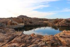 Quanah Parker Lake & represa fotografia de stock royalty free