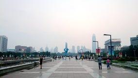 Quanchengvierkant, Jinan Shandong, China royalty-vrije stock afbeeldingen
