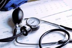 Quand avez-vous vérifié votre santé la fois passée, peut-être le moment pour le contrôle sanitaire ? Images libres de droits