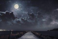 Quand la nuit tombe Images libres de droits