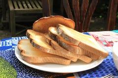 Quand les grèves de la faim Affichage de pain photographie stock libre de droits