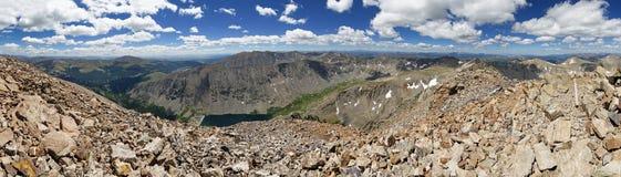 Quandary Peak Summit Panorama Stock Photography