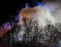 Quando as construções forem em chamas fotos de stock