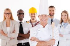 Quando eu cresço acima eu serei um cozinheiro chefe Fotos de Stock