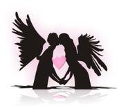 Quando fa la caduta di angelo nell'amore Immagini Stock Libere da Diritti