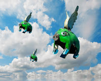 Quando i maiali volano Fotografia Stock