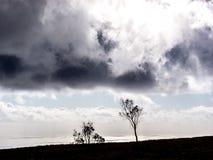 Quando la tempesta sta venendo Fotografie Stock