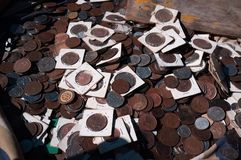 Quando la valuta era fisica immagini stock