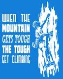 Quando a montanha obtém resistente o resistente obtenha de escalada Foto de Stock Royalty Free