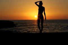 Quando o sol se ajustar Fotos de Stock Royalty Free