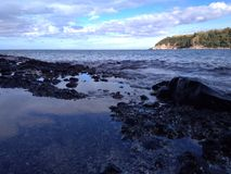 Quando perto da praia de Laki Fotos de Stock Royalty Free
