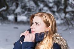 Quando verrà la neve scaturisce? Fotografia Stock