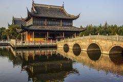 Quanfu Buddyjska świątynia w Zhouzhuang Chiny Fotografia Royalty Free