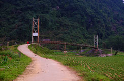 Quang Binh countryside landscape with amazing mountain Stock Photography