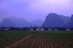 Quang Binh countryside landscape with amazing mountain Stock Images