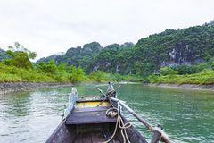 Quang Binh, Vietnam - July 13, 2018: Entrance of Phong Nha Cave in Phong Nha-Ke Bang National Park, a UNESCO World Heritage Site. In Quang Binh Province royalty free stock image