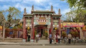 Quang Trieu Cantonese Assembly Hall i Hoi An arkivfoton