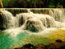 Quangsi waterfall 1. Quangsi waterfall at luang prabang,laos Royalty Free Stock Photos