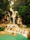 Quangsi waterfall 1. Quangsi waterfall at luang prabang,laos Stock Photo