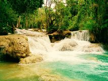 Quangsi waterfall 1. Quangsi waterfall at luang prabang,laos Royalty Free Stock Image