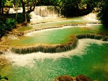Quangsi waterfall 1 Royalty Free Stock Photography