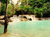 Quangsi waterfall 1. Quangsi waterfall at luang prabang,laos Royalty Free Stock Photo