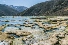 Quanhua tan Calcified pond stock image