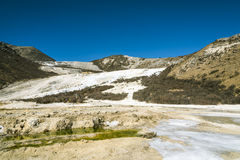 Quanhua tan glacier stock photography
