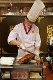 Quanjude restauracja przy Qianmen ulicą w Pekin Fotografia Stock