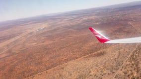 Quanta airplane in desert of Alice Springs